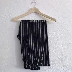 Brandy Melville Frankie navy white stripe pants
